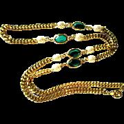 Vintage Necklace, Crystal Station, 1980's
