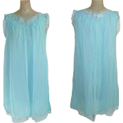 Vintage Chiffon Nightgown, Lace
