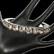 Vintage Rhinestone Bangle Bracelet, 1960's
