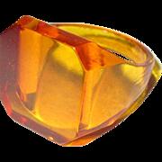 Bakelite Ring, Art Deco, Vintage Apple Juice