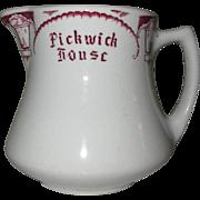Pickwick House Pitcher, Vintage Restaurant Ware