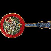 Vintage Banjo Pin, Micro Mosaic, Italy