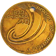 Chicago World's Fair 1933 Pendant / Medal