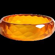 Bakelite Apple Juice Bracelet, Deco Faceted Prystal