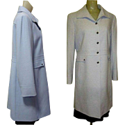 Vintage Tahari Coat, Tailored Spring Blue
