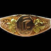 Vintage Gold Ring, Tri Color Black Hills Gold 10K