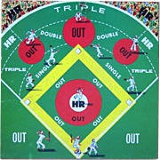 Baseball Game Board, Vintage 50's