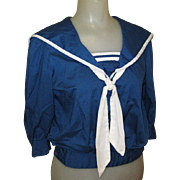Vintage Sailor Blouse, 1940's or 1950's