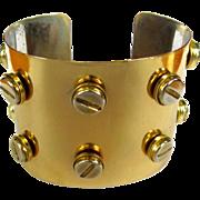 Vintage Screw Bracelet, Vintage Cuff