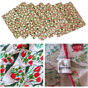 Vintage Vera Napkins, Tulips, Set of 6