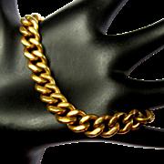 14K Curb Link Bracelet, Solid Gold, 48 Grams