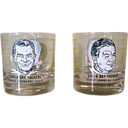 Lambeau Lombardi Glasses, Green Bay Packers, 1960's