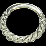 Carved Lucite Bracelet, Vintage 60's Bangle