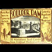 Boulder Dam Postcard Pack, 1936 Opening, 18 Miniature Deco
