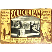 Boulder Dam Postcard Pack, 1936 Opening, 18 Miniature Deco - Red Tag Sale Item