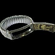 Vintage Expansion Bracelet, Photo ID, 1950's Cowboys