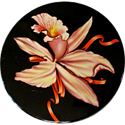 Vintage Tin, Orchid, Large Round