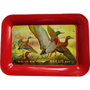 Miller High Life Beer Tip Tray Flying Ducks, Vintage