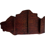 Wooden Curio Shelf, Illinois Shaped