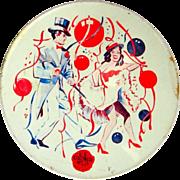 Vintage Noise Maker,NYE Tin Lithograph 40's