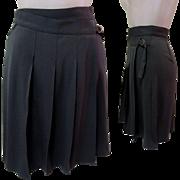 Vintage Pleated Skirt, Wrap Around, Designer