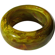 Bakelite Bangle Bracelet, Juice, End of Day Marbled