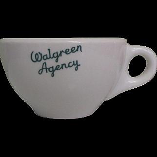 Walgreen Agency Coffee Cup, Restaurant Ware, 1951