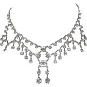 Crystal Festoon Necklace, Vintage
