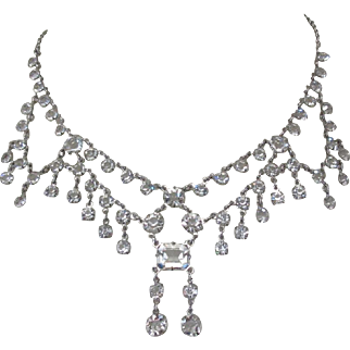 Crystal Festoon Necklace, Vintage