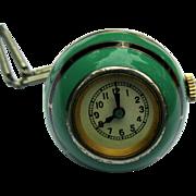 Enamel Ball Watch, Swiss Vintage Art Deco
