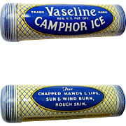 Vaseline Camphor Ice Tin, Vintage Unused