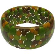 Lucite Dot Bracelet, 1960's Pill Bangle