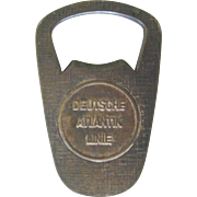 Deutsche Atlantik Linie Beer Bottle Opener, 1960's
