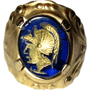 Faux Intaglio Ring, Roman Soldier
