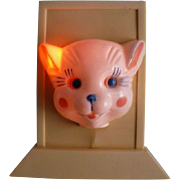 Vintage Cat Night Light, 1950's