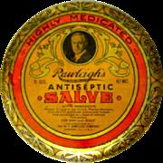 Vintage Rawleigh's Antiseptic Salve Tin. Art Nouveau Litho