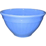 "Jeannette: Delphite 6"" Vertical Ribbed Glass Bowl"