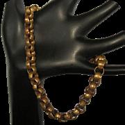 Vintage Ankle Bracelet, Heavy Chain