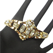 Vintage Rhinestone Bracelet, Coro Pegasus, 1940's