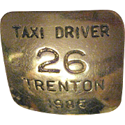 1985 Trenton Taxi Driver Badge