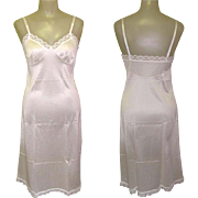 Vintage Slip, White Lace trim, 1950's