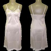 Vintage Slip, White Lace trim, 1950's