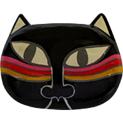 Cat Pin, Vintage Laurel Burch Kitty Face