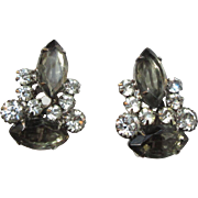 Juliana Rhinestone Earrings, D & E, Vintage