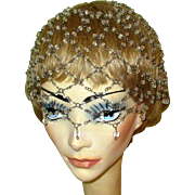 Beaded Juliet Cap, Vintage Flapper