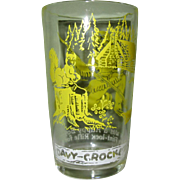 Davy Crockett Glass, Vintage Child's