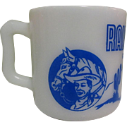 Ranger Joe Mug, Coffee Cup, Vintage 1950's Glass
