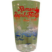 Remember Pearl Harbor, Vintage Painted Glass