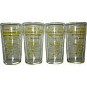 Vintage Beer Store Glasses, Wisconsin Baseball
