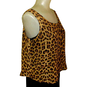 Leopard Blouse, Sheer Vintage Print Top